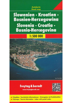 Mapa samochodowa - Słowenia, Chorwacja.. 1:500 000