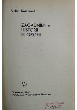 Zagadnienie Historii Filozofii