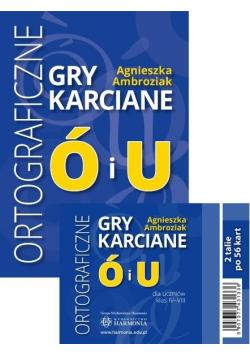 Ortograficzne gry karciane Ó i U dla klas 4-8