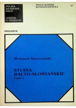 Studia Bałto Słowiańskie część 1
