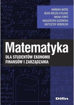 Matematyka dla studentów ekonomii, finansów...