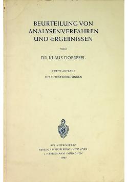 Beurteilung von Analysenverfahren und Ergebnissen