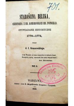 Starościna Bełzka tom II z 1858r