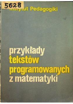 Przykłady tekstów programowanych z matematyki
