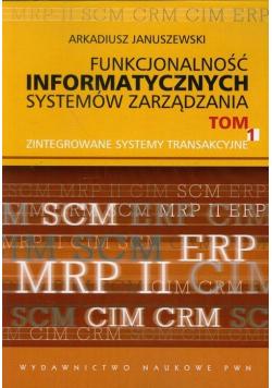 Funkcjonalność informatycznych systemów zarządzania t 1