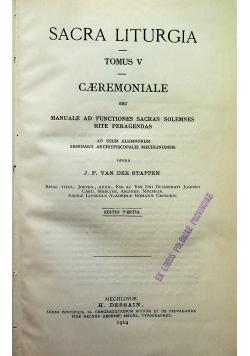 Sacra Liturgia Tomus V 1914 r