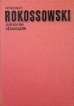 Rokossowski żołnierski obowiązek