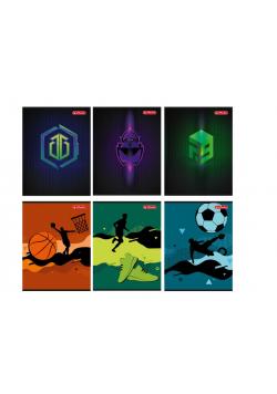 Zeszyt A5/16K linia podwójna Games & Sport (10szt)