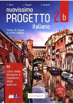 Progetto italiano Nuovissimo 2B podr. + ćw. + CD
