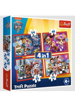 Puzzle 4w1 Psi Patrol w mieście TREFL