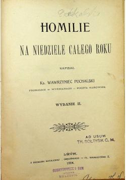 Homilie na niedziele całego roku 2 części ok 1904 r.