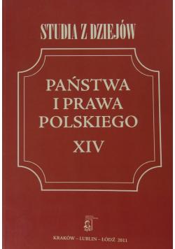 Studia z dziejów państwa i prawa polskiego XIV