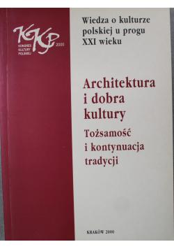 Architektura i dobra kultury