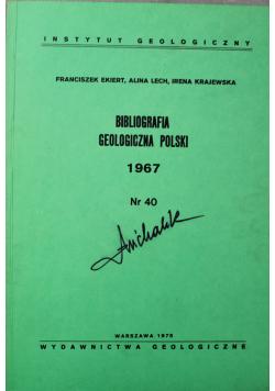 Bibliografia geologiczna Polski 1967 Nr 40