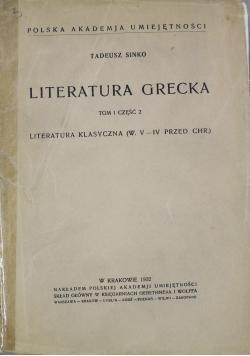 Literatura grecka Tom I częsć II 1932 r