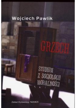 Grzech Studium z socjologii moralności + autograf Pawlika