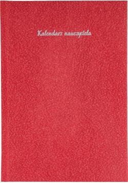 Kalendarz Nauczyciela A5 2020/2021 Beton czerwony
