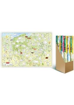 Mapa do kolorowania Europa