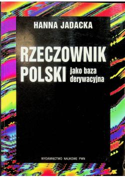 Rzeczowniki Polski jako baza derywacyjna