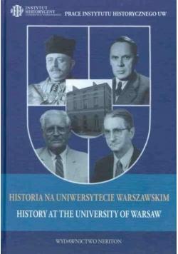 Historia na Uniwersytecie Warszawskim