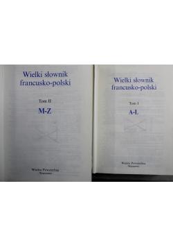 Wielki słownik polsko francuski 2 Tomy