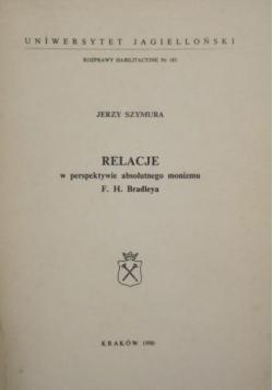 Relacje w perspektywie absolutnego monizmu F. H. Bradleya