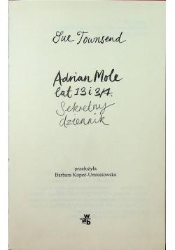 Adrian Mole lat 13 i 3  4 Sekretny dziennik