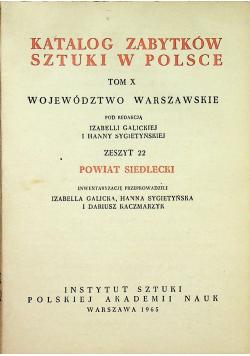 Katalog zabytków sztuki w Polsce Tom X zeszyt 22