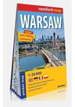 Comfort! map Warsaw 1:26 000 mapa kieszonkowa
