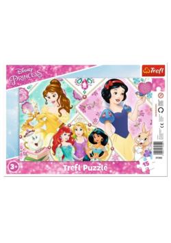 Puzzle ramkowe 15 Urocze księżniczki TREFL