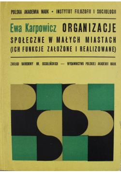 Organizacje społeczne w małych miastach