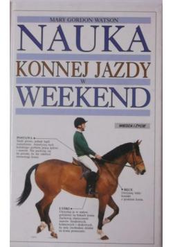 Nauka konnej jazdy w weekend