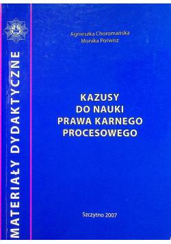 Kazusy do nauki prawa karnego procesowego