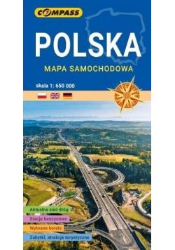 Mapa samochodowa. Polska 1:650 000