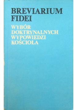 Breviarium Fidei Wybór doktrynalnych wypowiedzi Kościoła