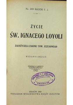Życie Św Ignacego Loyoli 1923 r