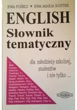 English Słownik tematyczny dla młodzieży szkolnej studentów i nie tylko