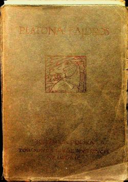 Platona Fajdros 1922 r