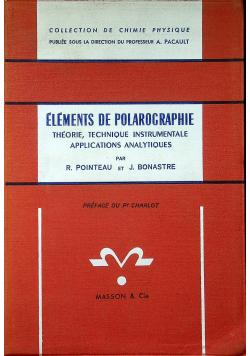 Elements de polarographie
