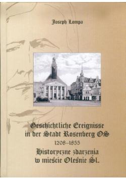Historyczne zdarzenia w mieście Oleśnie Śl 1208 1855