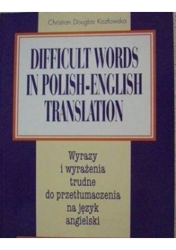 Difficult words in polish  english translation
