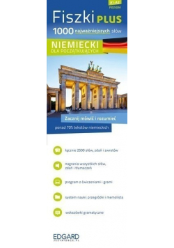 Fiszki PLUS 1000 najważniejszych słów Niemiecki dla początkujących Poziom A1 A2