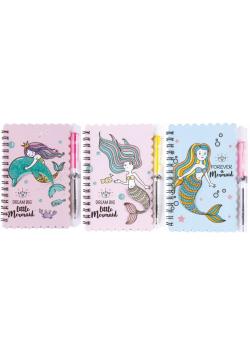 Notes na spirali z długopisem Mermaid 30K 81985