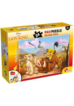 Puzzle dwustronne maxi Król Lew 24