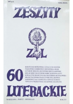 Zeszyty literackie 60 4/1997