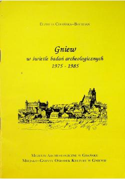 Gniew w świetle badań archeologicznych 1975 1985