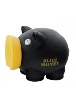 Skarbonka Świnka Black Money czarna MAPED