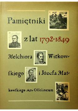 Pamiętniki z lat 1792 1849