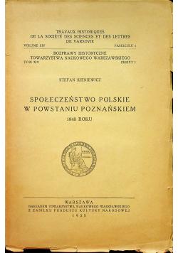 Społeczeństwo polskie w powstaniu poznańskim 1935r