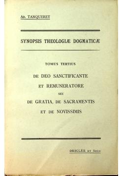 Synopsis theologiae dogmaticae tomus tertius